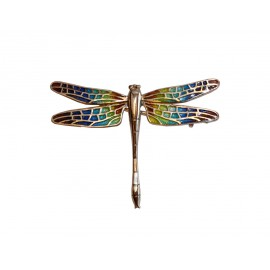 Broche libellule en mosaïque de Gaudi
