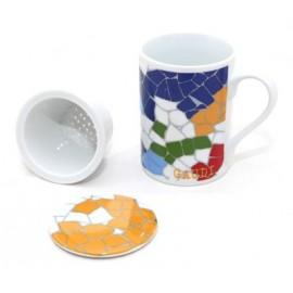 Tasse Trencadís de thé 3 parties