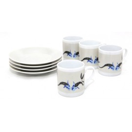 Set 4 pieces Espresso Coffee Gaudi Fishes