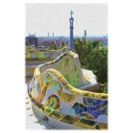 Print banco Park Guell
