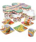 Set of 4 Cups & Saucers Gaudi's Lizard