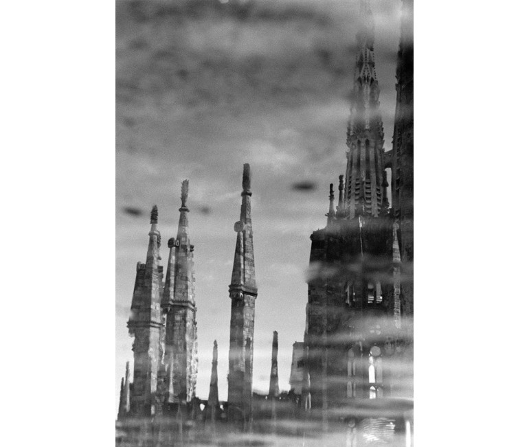 Photo Print Sagrada Familia Water Reflexion 1