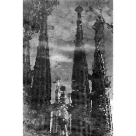 Photo Print Sagrada Familia Water Reflexion 1