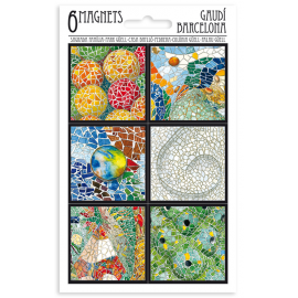 6 Mosaic Magnets Set