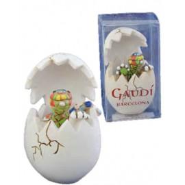 Lizar Egg Gaudi-Barcelona