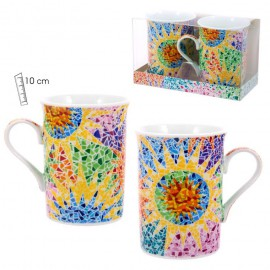 Set of 2 Mugs Gaudí Multicolor