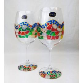Maletín con 2 Copas de Vino Burdeos