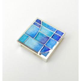 Colgante cuadrado color azul