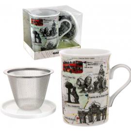 Mug + filre+ assiette