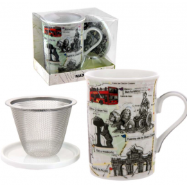 Mug + filtro + tapa