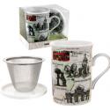 Madrid Ceramic Tea Cup 3 Pieces