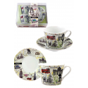 Set 2 cups and plates