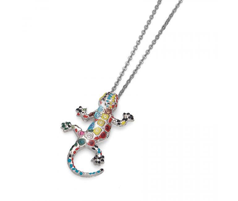 Small pendant Gaudi Drac Silver