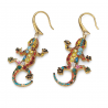 Boucles d'oreilles Gaudi Drac Or