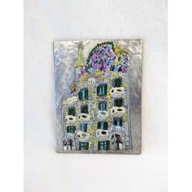 Placa Casa Batlló en estaño repujado