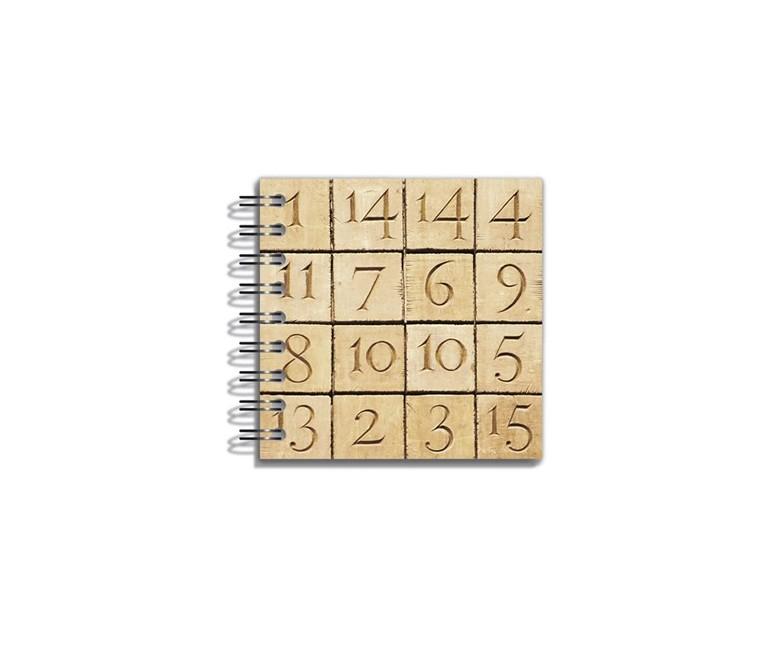 Mini Libreta Criptograma 8x8 cm