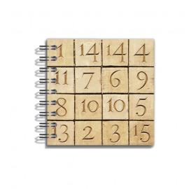 Mini Llibreta Criptograma 8x8 cm
