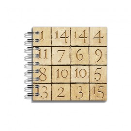 Mini Notebook Cryptogram 8x8 cm