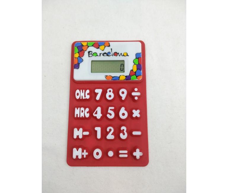 Vitrall Flexible Calculator Red