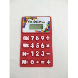 Calculadora Flexible Vitrall Vermella