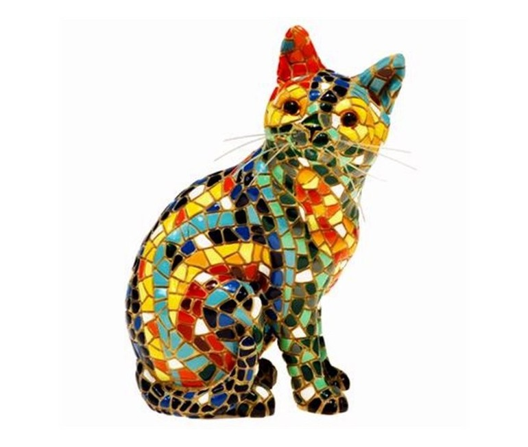 Trencadis Sitting Cat - 10 cm