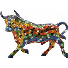 Toro Gaudí trencadís multicolor