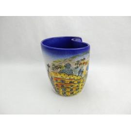 Mug Ceramica Estrella Tonalidades Rojas