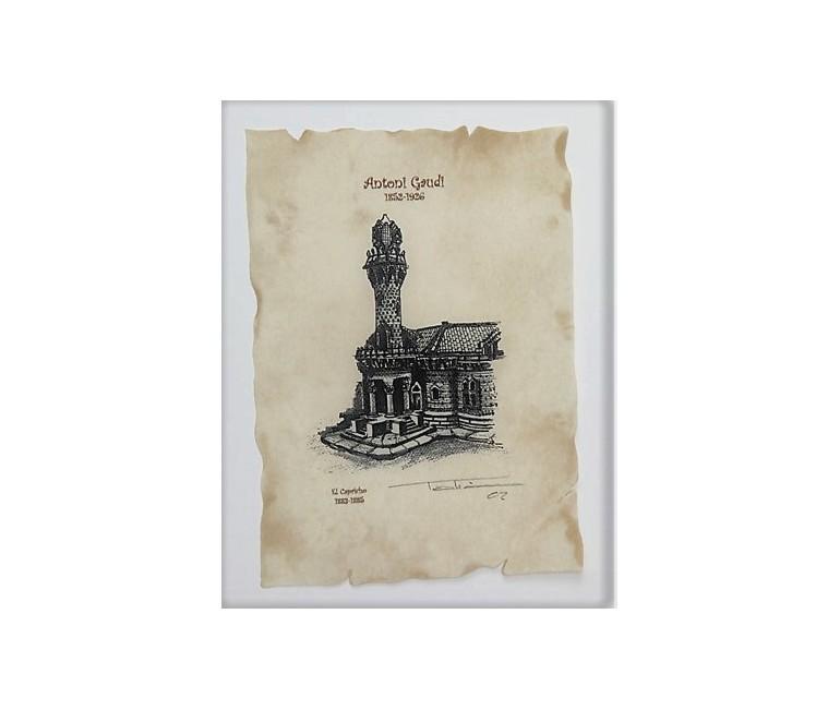Parc Güell Lithography