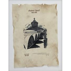 Litografía Verja Finca Güell
