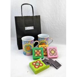 Gaudi Mugs & Choco Set