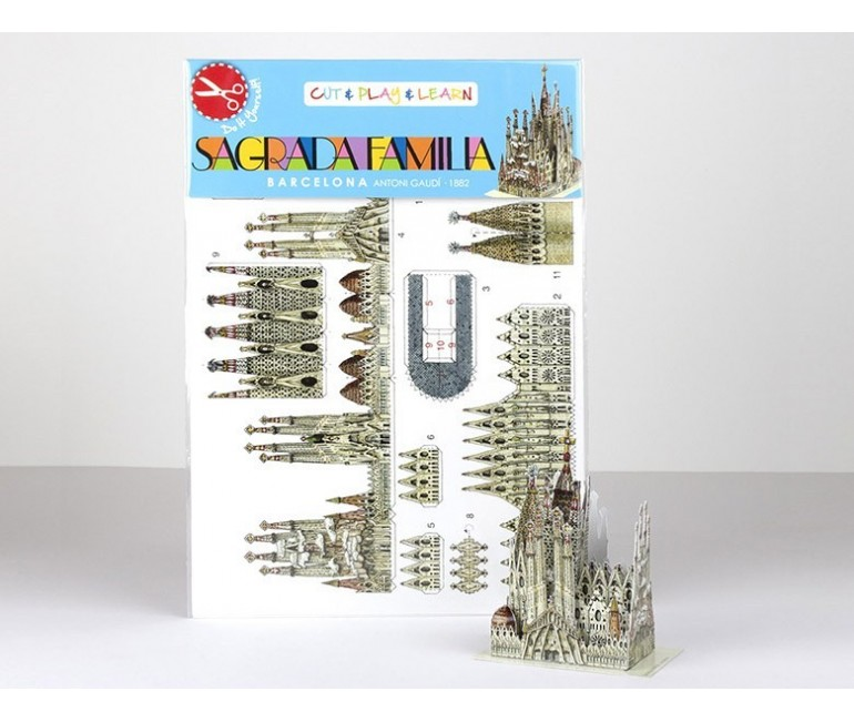 Mini Kit papier Sagrada Familia