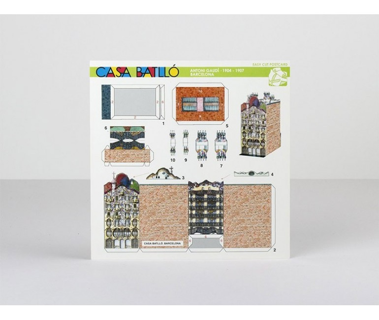 Postcard Paper Model Casa Batllo