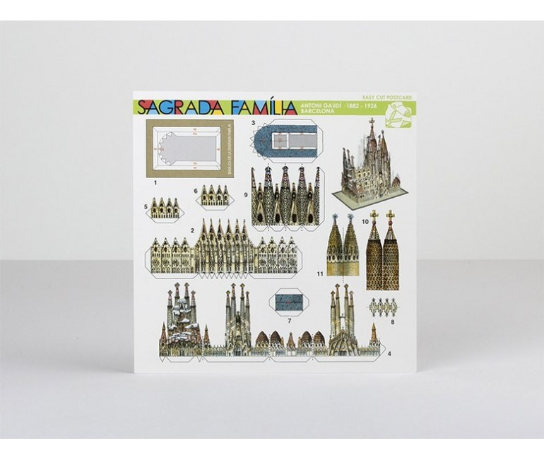 Postal Recortable Sagrada Familia