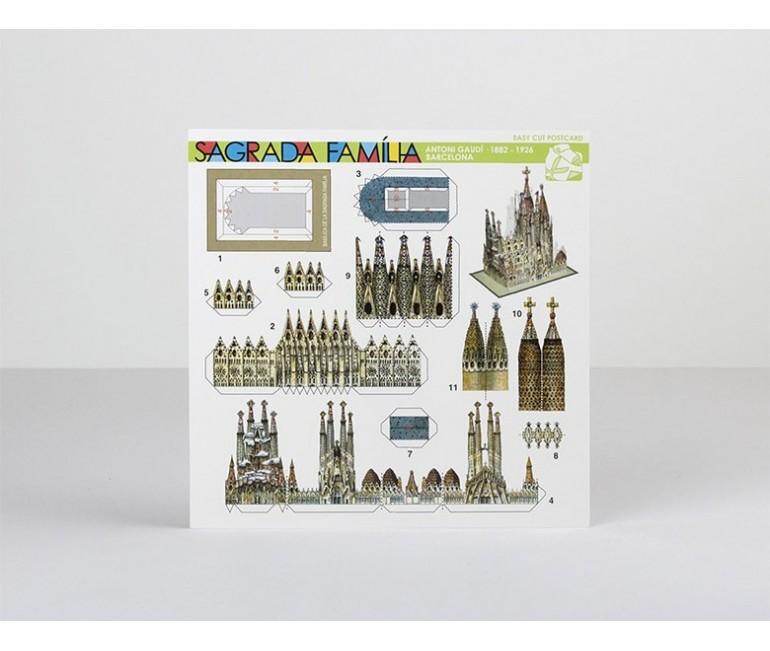 Postcard Paper Model Sagrada Familia