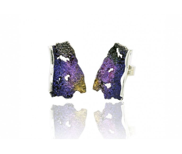 Modernist Enamel Earrings