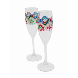 Deux verres Alba Cava Trencadís