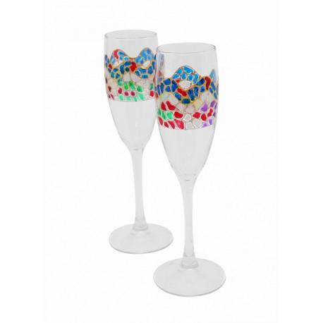 Two Alba Cava Glasses Trencadís