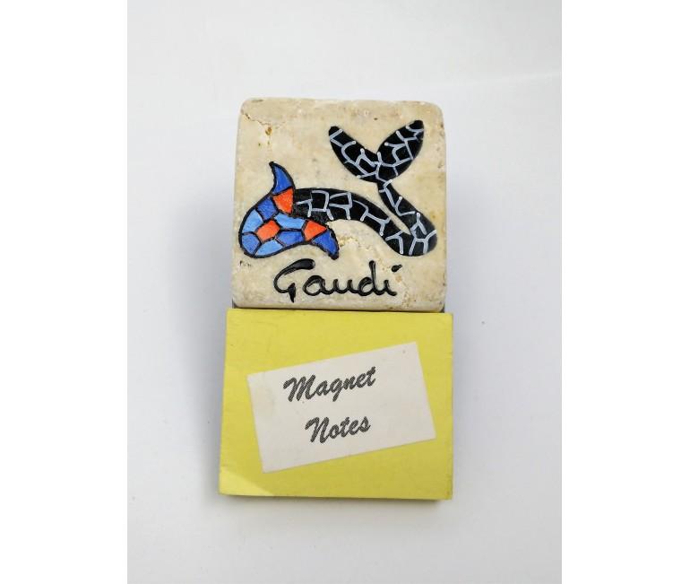 Magnette note poisson du Gaudí