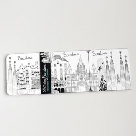 Sketching Barcelona Coasters set 6