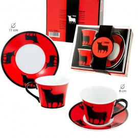 Set of 2 cups bull