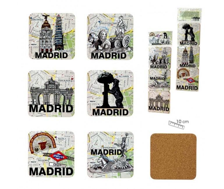 Set of 6 coasters Madrid