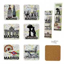 Ensemble de 6 coasters Madrid