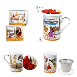 Mug Sevilla with cover