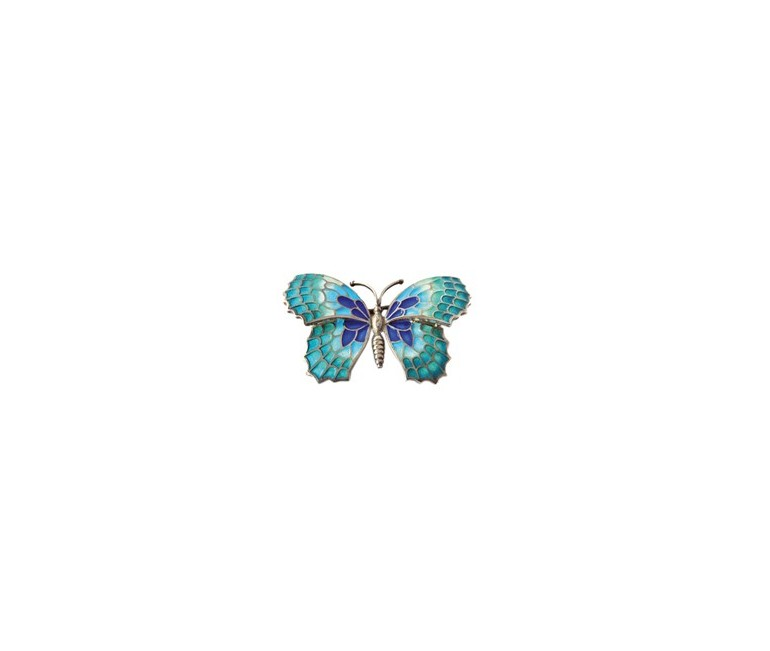 Turquoise Butterfly Pendant Gaudí