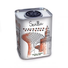 Sketching Sevilla extra virgin olive oil mini can