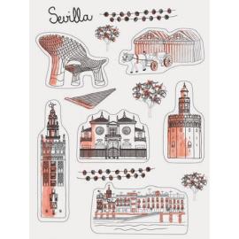 Set de imanes Sevilla Sketching