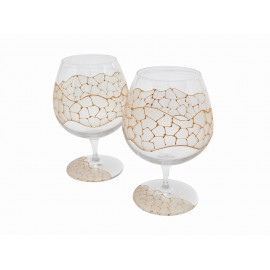 Set of Bordeaux Brandy Cups Gaudi Design