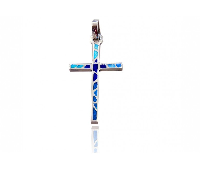 Blue Trencadis Cross