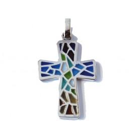 Creu Trencadís multicolors