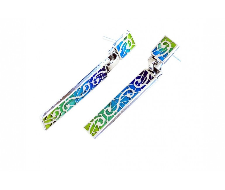 Trencadis long earrings 2 pieces